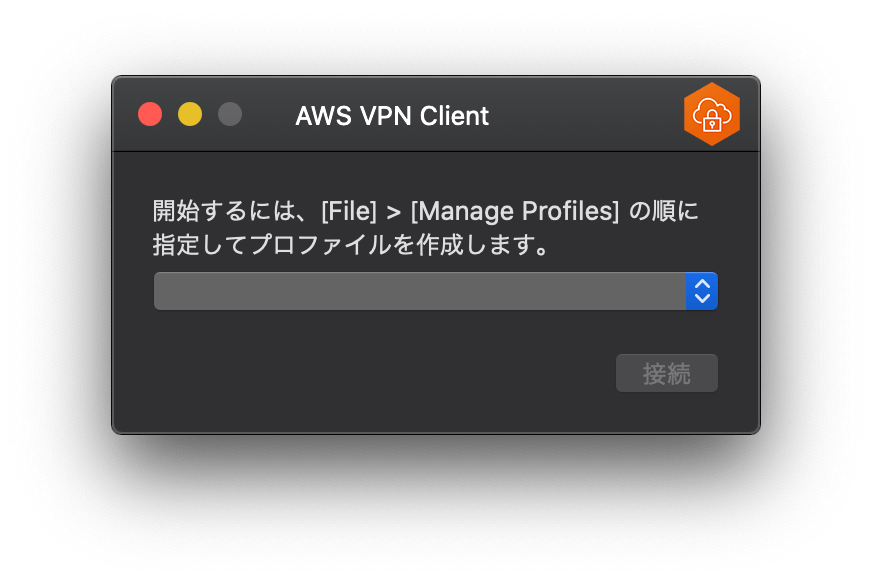 AWS VPN Client 起動