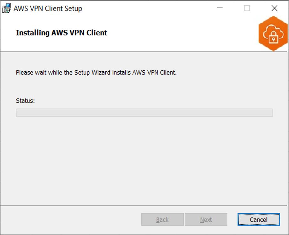 AWS VPN Clientインストール中