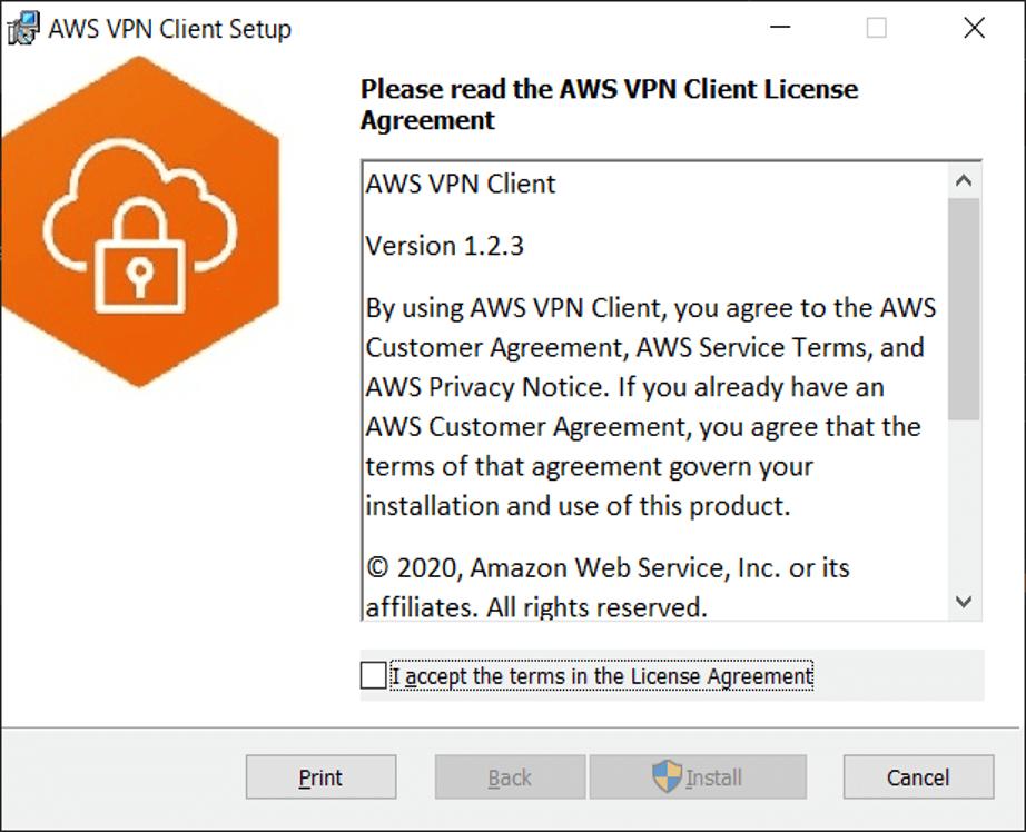 AWS VPN Clientインストール開始